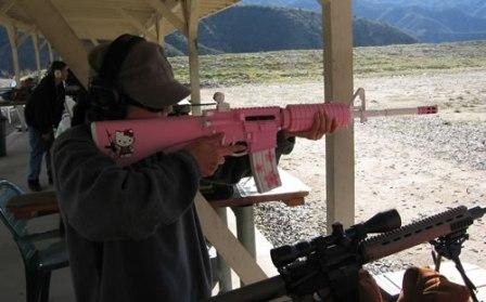 hello kitty gun sticker